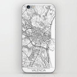 Valencia Map White iPhone Skin