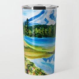 Mt. Rainier Reflections Lake Travel Mug