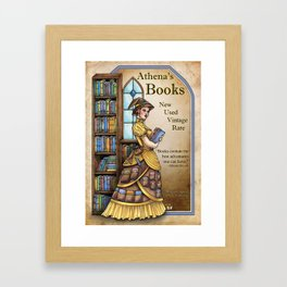 Athena's Books by Bobbie Berendson W Framed Art Print