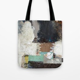 Another Vice Mixed Media Abstract Collage Art Tote Bag