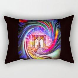 New York Brooklyn Bridge 2 Rectangular Pillow