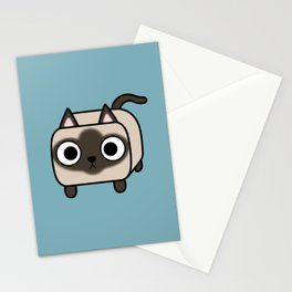 Cat Loaf - Siamese Kitty with Crossed Eyes Stationery Cards