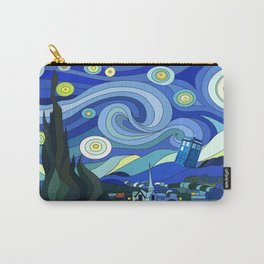 Tardis Art Starry Night Carry-All Pouch