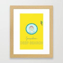 Deep Search Framed Art Print