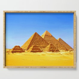 The Pyramids At Giza Serving Tray