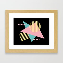 Memphis Pattern 28 / 80s - 90s Retro Framed Art Print