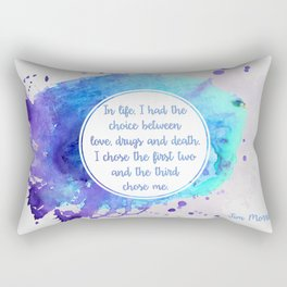 Jim Morrison's quote Rectangular Pillow
