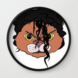 MJ Cat Head Wall Clock