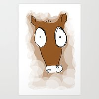donkey Art Prints featuring Donkey by Frances Roughton