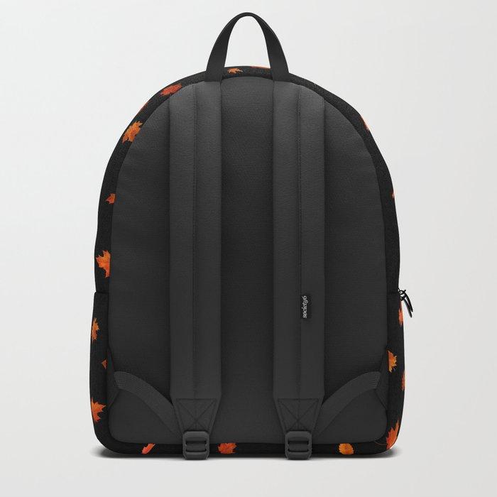 Autumn owls on black Backpack