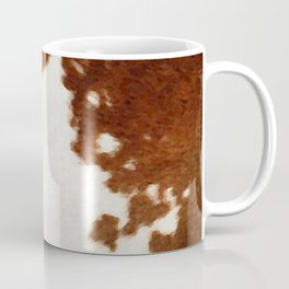 brown cowhide watercolor Coffee Mug