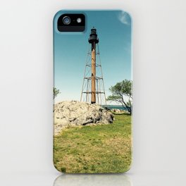 Lighthouse in the summer iPhone Case