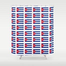 Flag of Cuba 4 -cuban,havana,guevara,che,castro,tropical,central america,spanish,latine Shower Curtain