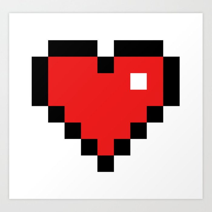Pixel Heart... Art Print By Totallyglitching
