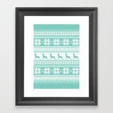 Reindeer Sweater Framed Art Print
