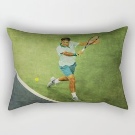 Roger Federer Tennis Backhand Rectangular Pillow