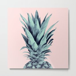 Blush Pineapple Dream #1 #tropical #fruit #decor #art #society6 Metal Print