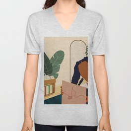 Stay Home No. 4 Unisex V-Neck