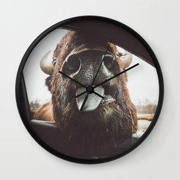 Bison Wassup Wall Clock