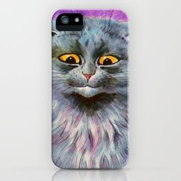 Russian Blue Cat - Louis Wain Cats iPhone Case