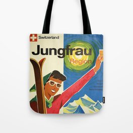 Classic Vintage Travel Poster Tote Bag