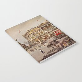 Vintage Piccadilly Circus London Notebook