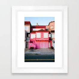 Pink House // San Francisco Framed Art Print