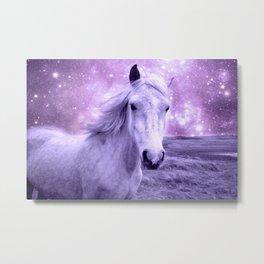 Lavender Horse Celestial Dreams Metal Print