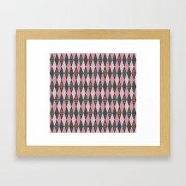 Argyle Jelly Molds Framed Art Print