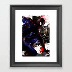 Spiderman in London Close up Framed Art Print