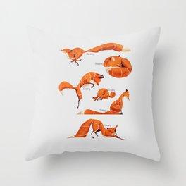 Fox poses Throw Pillow