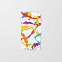 Splattered Rainbow [WHITE] Hand & Bath Towel