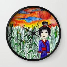 corn field kwaidan Wall Clock