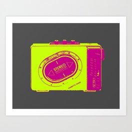 FAVOURITE90 - Walkman Yellow Art Print