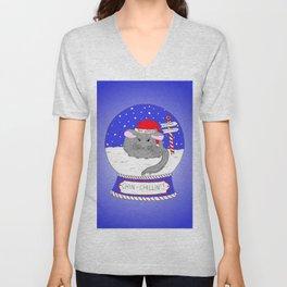Chin-Chillin' Christmas Unisex V-Neck