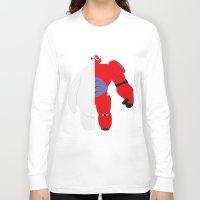 baymax Long Sleeve T-shirts featuring BayMax by Brieana
