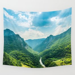 Landscape - Green Mountains  Wall Tapestry