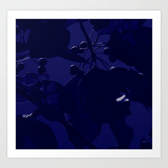 Fall Blue Art Print
