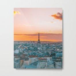 Sunset in Paris (Color) Metal Print