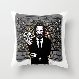 John Wick in the Catacombs Throw Pillow