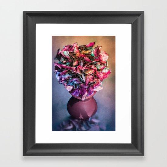 STILL LIFE WITH HYDRANGEA IN A VASE Framed Art Print