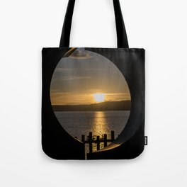 Sunset in Taupo (New Zealand) Tote Bag