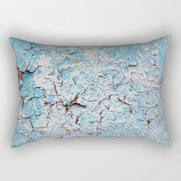Cracked Wall Texture Blue Rectangular Pillow