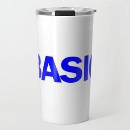 BASIC in Blue Travel Mug
