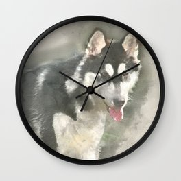 Sundara Guardian Loki the Wolf Wall Clock