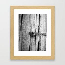 Locking the Past Framed Art Print
