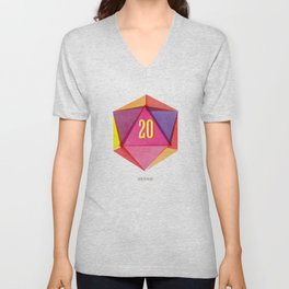 Rolling D20's Like A Big Shot  Unisex V-Neck
