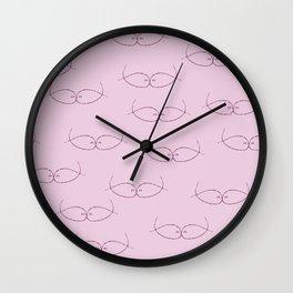 Seeing Pink Magenta Kissing Fish Wall Clock
