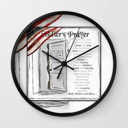 Soldier's Prayer ~ Ginkelmier Wall Clock