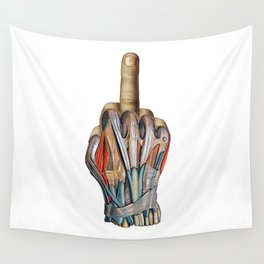 One Finger Salute Wall Tapestry